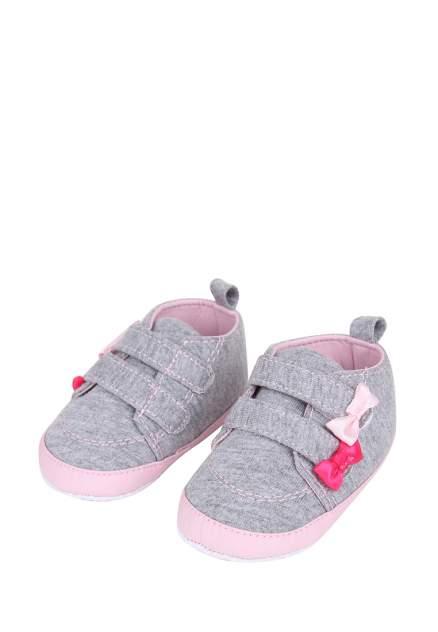 Пинетки для девочек Kari baby, цв. серый, р-р 19