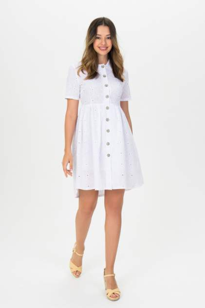 Повседневное платье женское ELARDIS El_W10342 белое S