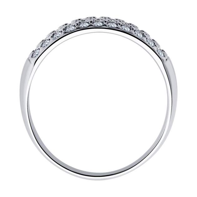 Кольцо женское SOKOLOV из серебра с фианитами 94010062 р.17