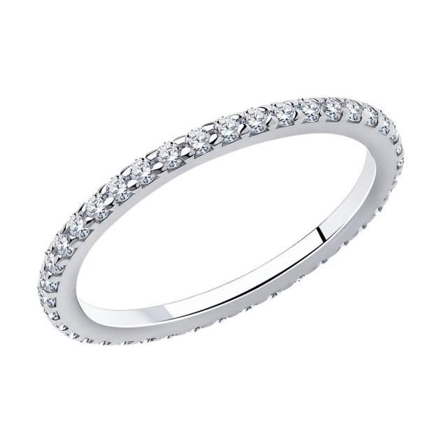 Кольцо женское SOKOLOV из серебра с фианитами 94010609 р.16.5