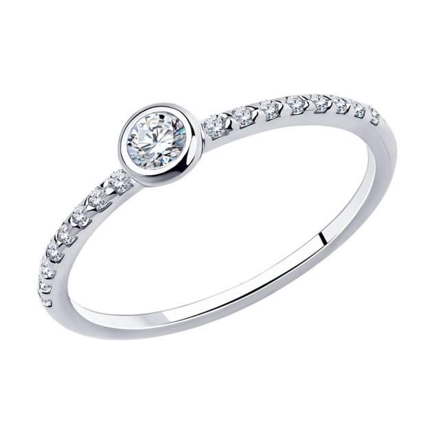 Помолвочное кольцо женское SOKOLOV из серебра с фианитами 94010629 р.17.5