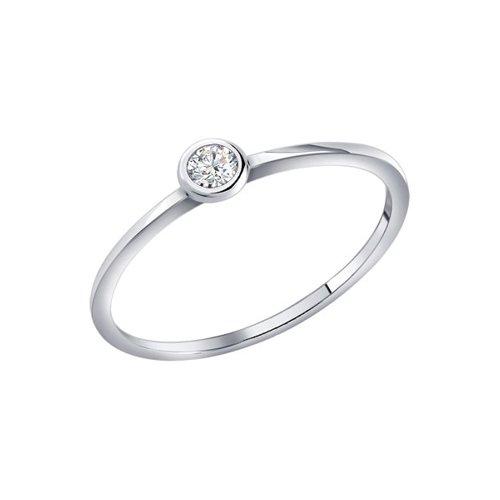 Помолвочное кольцо женское SOKOLOV из серебра c фианитом 94010630 р.17.5