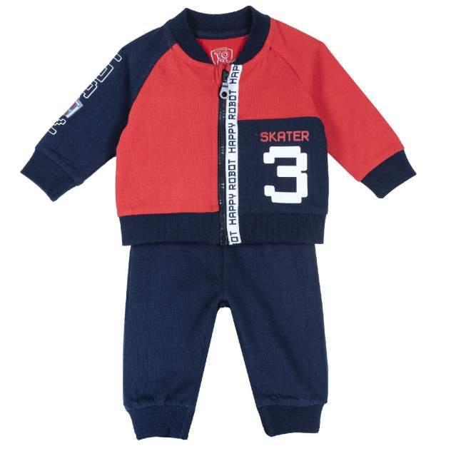 Спортивный костюм Chicco Skater, для мальчика, р.80, цв. красный
