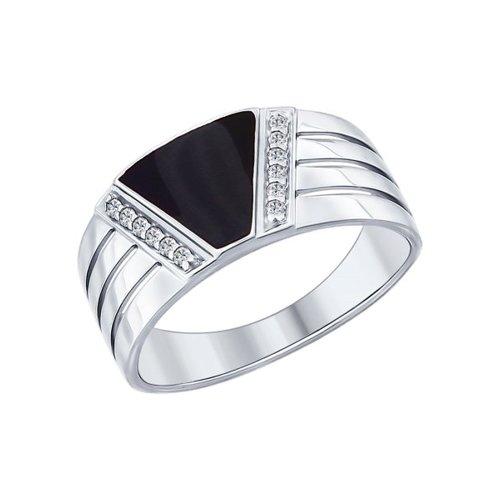 Кольцо SOKOLOV из серебра с эмалью с фианитами 94012005 21,5