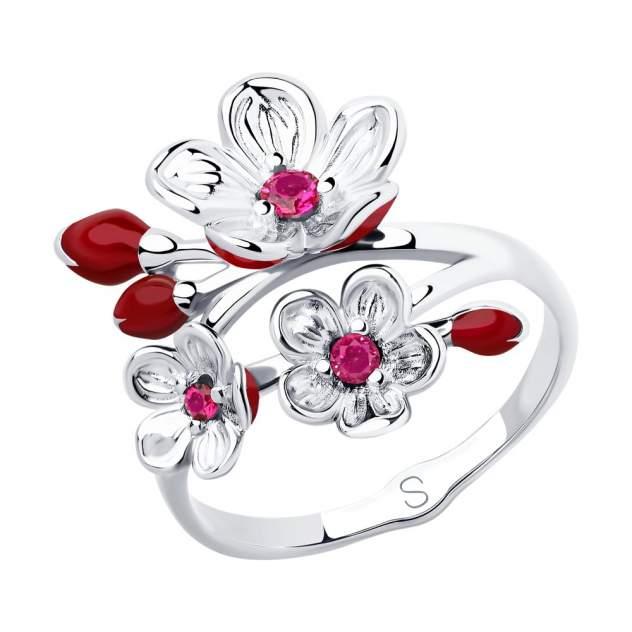 Кольцо женское SOKOLOV из серебра с эмалью и фианитами 94012856 р.19