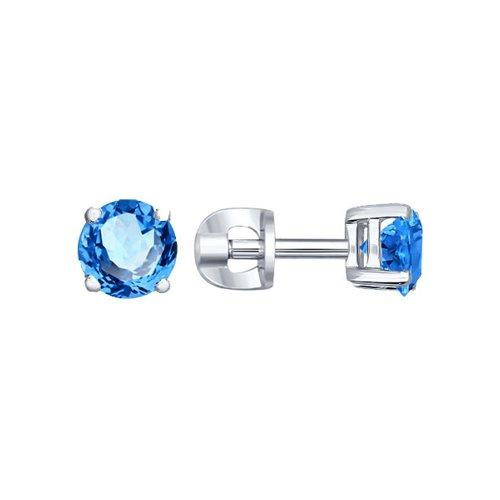 Серьги женские из серебра SOKOLOV 94020532, фианит