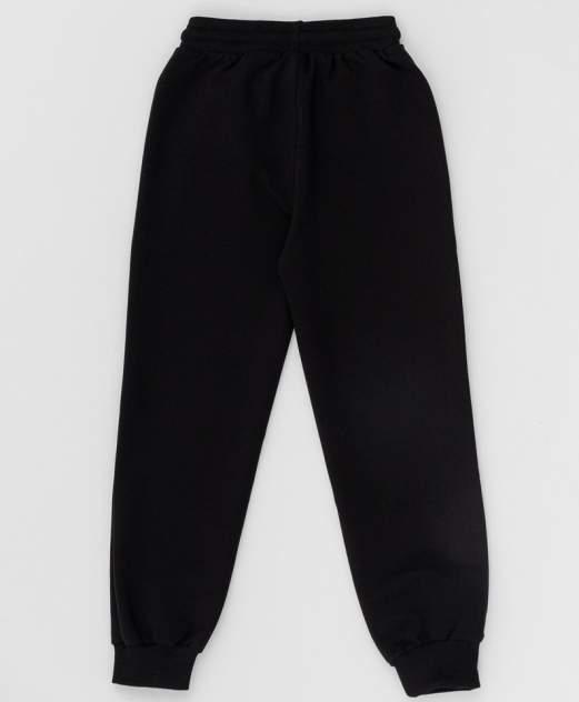 Черные брюки из футера BUTTON BLUE, модель 220BBBS56010800, р. 122