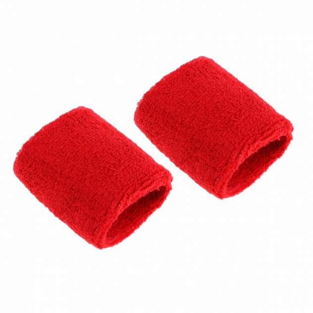 Напульсники спортивные 2 шт, цвет красный, 8х8 см, Atlanterra AT-WRLT-01
