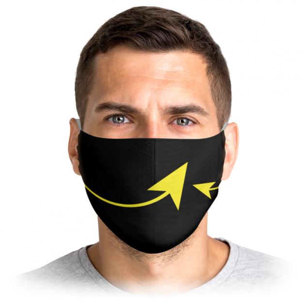Многоразовая маска Printio Стрелки черная L