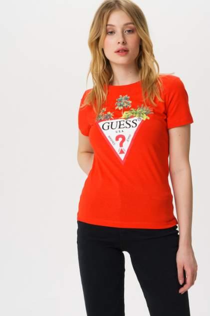 Футболка женская Guess W0GI52JA900 оранжевая S