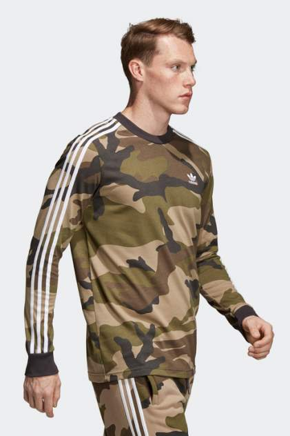 Лонгслив Adidas DV2055, зеленый