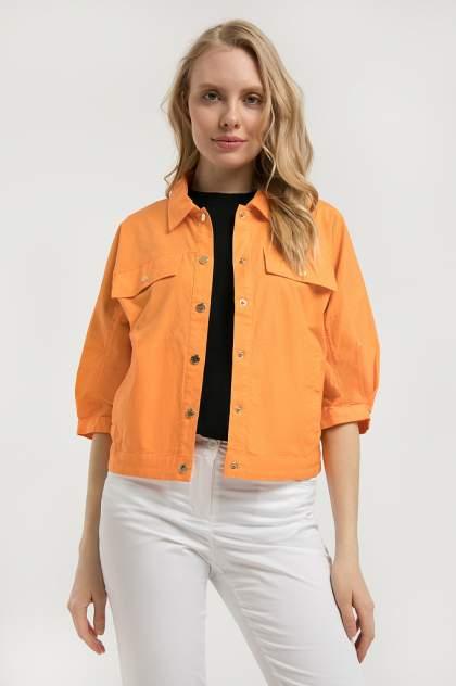Жакет женский Finn Flare S20-14000 оранжевый XXL
