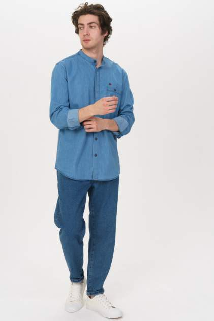 Джинсовая рубашка мужская F5 107027_07331, Blue синяя 46