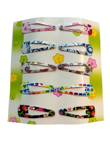Заколки клик-клак 10 шт. Fashion Jewelry № 5