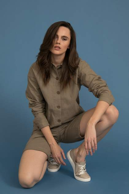 Жакет женский Finn Flare S20-12057 коричневый XL