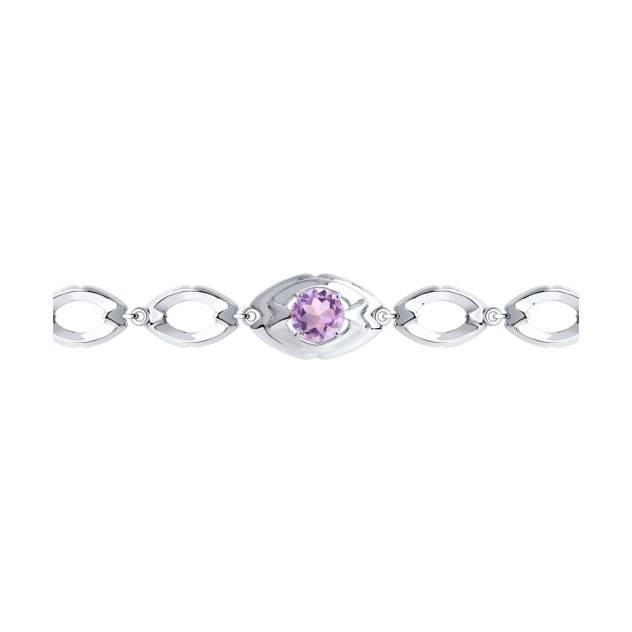 Браслет Diamant 94-350-00680-2, аметист
