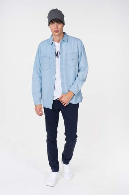 Джинсовая рубашка мужская Tommy Hilfiger DM0DM05465 синяя 46