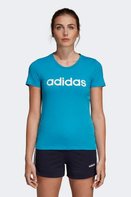 Футболка женская Adidas DU0630 голубая L