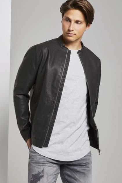 Кожаная куртка мужская TOM TAILOR 1019763 черная L