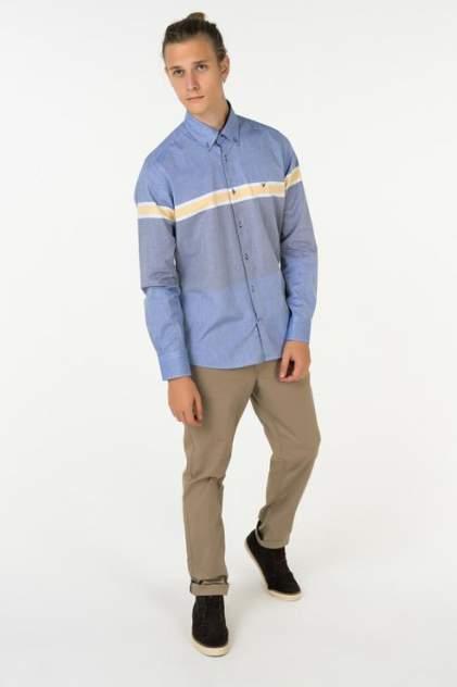 Рубашка мужская Westrenger WS1SM-18-31 голубая 50