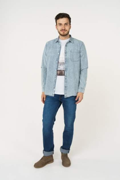 Джинсовая рубашка мужская ONLY & SONS 22012650 синяя 50