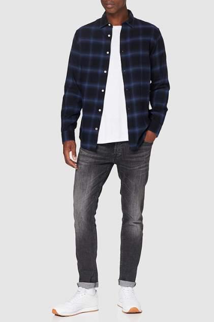 Рубашка мужская Jack & Jones 12173030 синяя 50