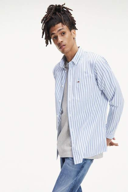 Рубашка мужская Tommy Hilfiger DM0DM06579 голубая 50