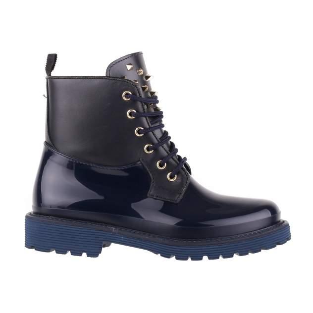 Резиновые ботинки женские MENGHI SHOES 7004 синие 39 RU