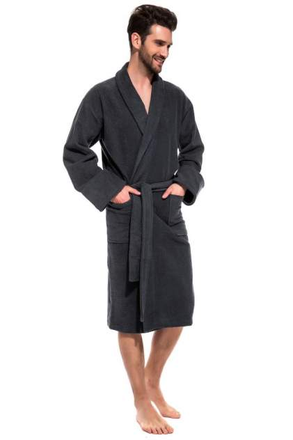 Домашний халат мужской EvaTeks King Power серый L