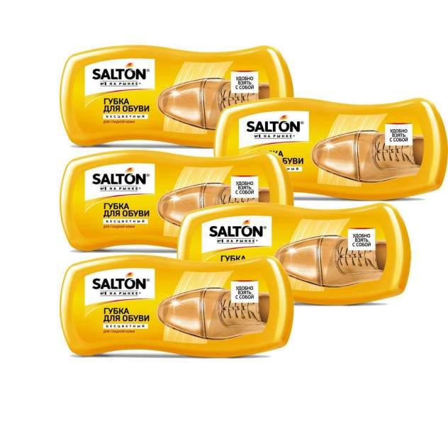 Губка для обуви Salton Волна Мини для гладкой кожи бесцветная (набор 5шт)