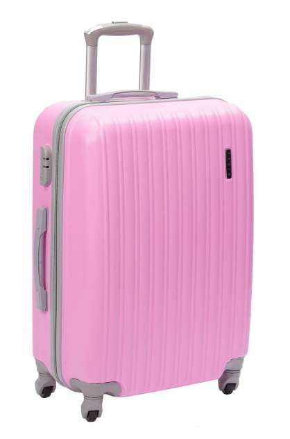 Качественный чемодан на колесах Нежно-розовый Tevin 0006, размер M+, 78 л
