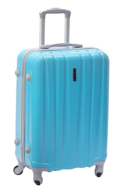Чемодан TEVIN, Бирюзовый (Голубой) 0012, размер S+, 52 л (20 дюймов)
