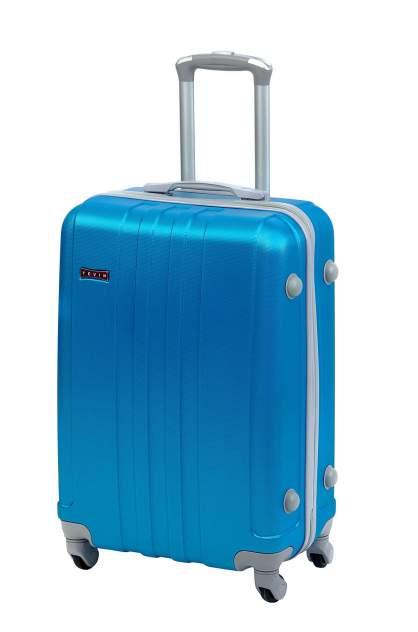 Небольшой чемодан на колесах Голубой средний 0073, размер M+, 78 л