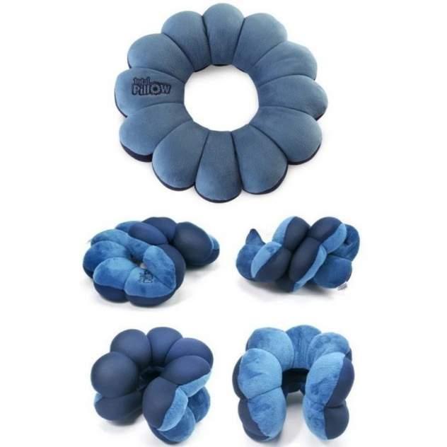 Подушка-трансформер для путешествий Total Pillow  (Тотал Пиллоу) (Цвет: Синий  )