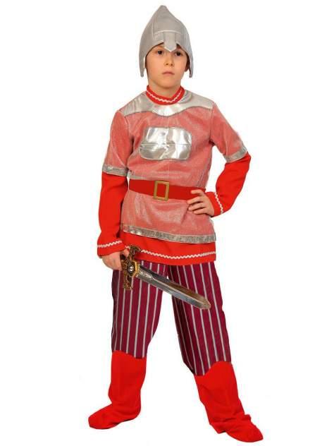 Карнавальный костюм Карнавалофф Богатырь, цв. красный р.134
