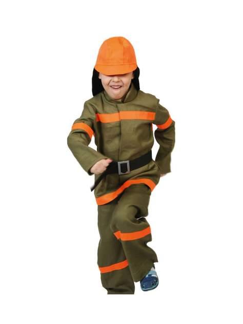 Карнавальный костюм Карнавалофф Пожарный, цв. коричневый р.122