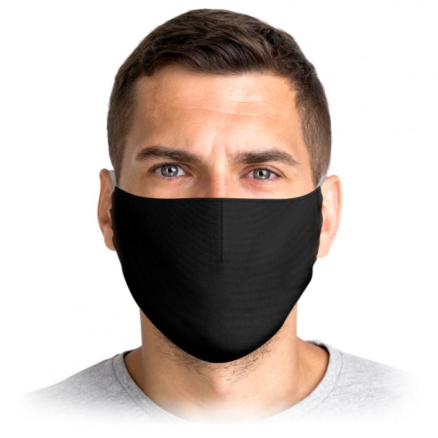 Многоразовая маска Printio Мейверик (бродяга) черная L
