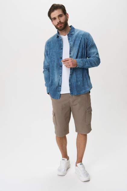 Рубашка мужская GUESS JEANS M02H50D4041 голубая 48