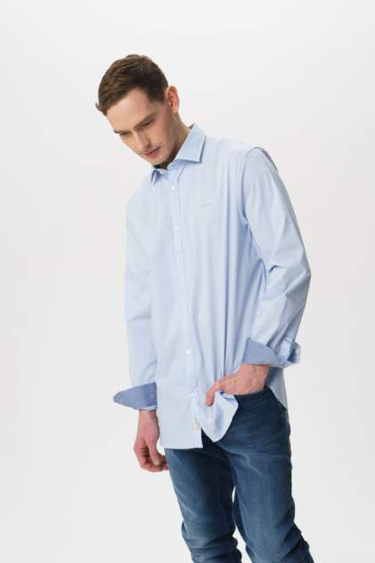 Рубашка мужская GUESS JEANS M02H13W7ZK0 голубая 48
