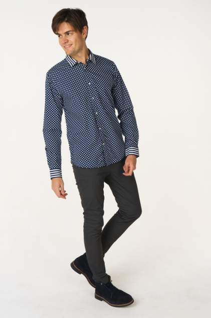 Рубашка мужская Scotch & Soda 132.18FWMM.0820145378.0217 синяя 48