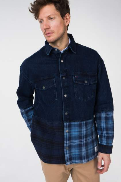 Джинсовая рубашка мужская Tommy Hilfiger DM0DM05454 синяя 48