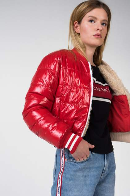 Куртка женская Tommy Hilfiger DW0DW05585 красная S