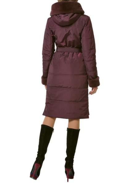 Пуховик-пальто женский DizzyWay 19315 фиолетовый 52 RU