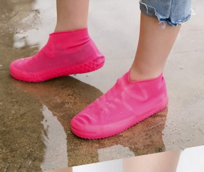 Силиконовые чехлы для обуви HagenStore M (35-40) розовые