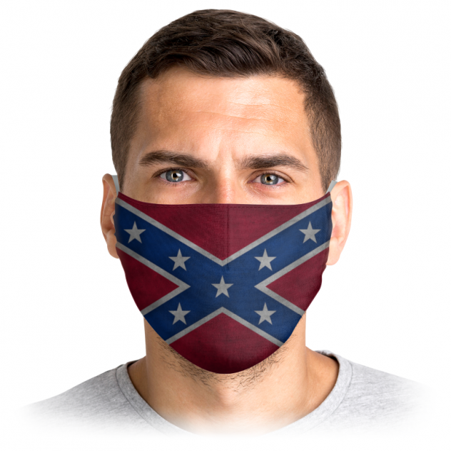 Многоразовая маска Printio Флаг конфедерации сша красная L