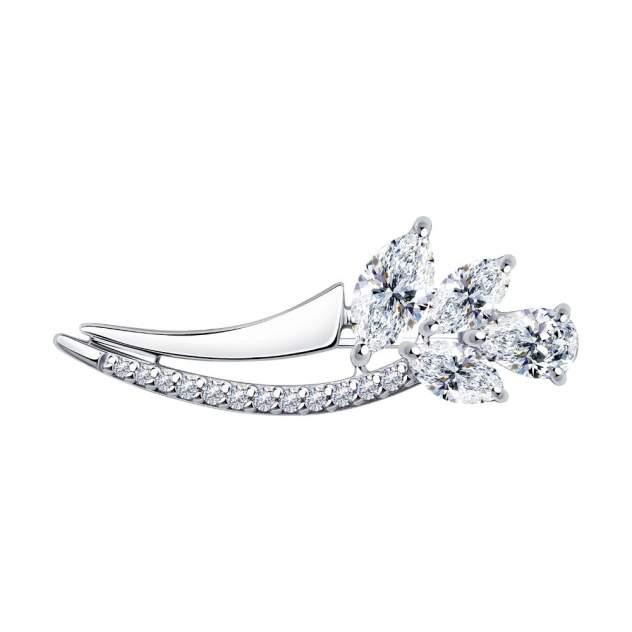 Брошь женская Diamant 94-140-00683-1