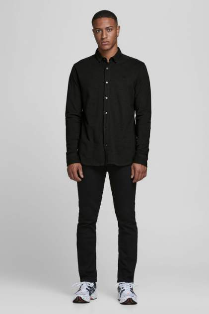 Рубашка мужская Jack & Jones 12171635 зеленая 46