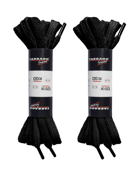 Шнурки для обуви Tarrago P-TL6409 черные 120 см (две пары)
