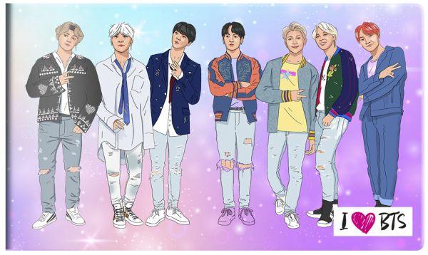 Кардхолдер I love BTS. оф. 1 разноцветный