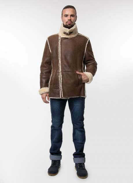 Дубленка мужская Perre 33817 коричневая 52 RU
